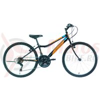 "Bicicleta copii Neuzer Bobby Revo - 24"" 18v Negru/Portocaliu-Albastru"