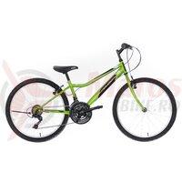 """Bicicleta copii Neuzer Bobby Revo - 24"""" 18v Verde Neon/Negru-Alb"""