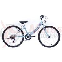 "Bicicleta copii Neuzer Cindy Revo - 24"" 6v Baby blue/Albastru-Roz"