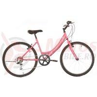 """Bicicleta copii Neuzer Cindy Revo - 24"""" 6v Erika Roz/Alb"""