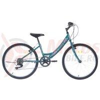 """Bicicleta copii Neuzer Cindy Revo - 24"""" 6v Turcoaz/Alb"""
