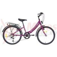 """Bicicleta copii Neuzer Cindy Revo City - 20"""" 6v Mov/Alb-Roz"""