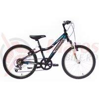 "Bicicleta copii Neuzer Mistral - 20"" Negru/Alb-Albastru"