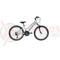 "Bicicleta copii Neuzer Mistral - 24"" Alb/Mov-Albastru"
