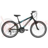 "Bicicleta copii Neuzer Mistral - 24"" Negru/Alb-Albastru"