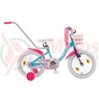 Bicicleta Copii Polar Unicorn - 14 Inch Albastru/Roz
