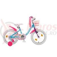 Bicicleta Copii Polar Unicorn - 16 Inch Albastru/Roz