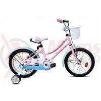Bicicleta copii Robike Alice 16 roz/albastru