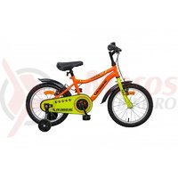 Bicicleta copii Robike Racer 16 portocaliu/verde