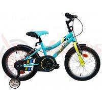 Bicicleta copii Robike Ronny 16 albastru/verde
