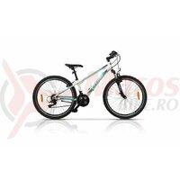 Bicicleta CROSS Daisy 26'' - aluminiu, alb