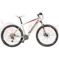 Bicicleta Cross Fusion Man 27.5 inch alb/rosu/gri