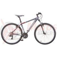 Bicicleta Cross GRX 7 26' gri/rosu/alb