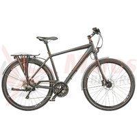 Bicicleta Cross Quest Man Trekking 28 inch negru/portocaliu