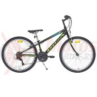 Bicicleta CROSS Speedster otel - 24'' junior - negru