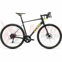 Bicicleta Cube Attain Pro Black/Flashyellow 2021
