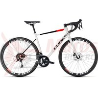 Bicicleta Cube Attain pro Disc white/red 2018