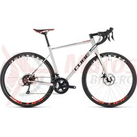 Bicicleta Cube Attain Pro Disc White/Red 2019