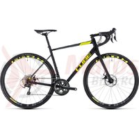 Bicicleta Cube Attain Race Disc black/flashyellow 2018