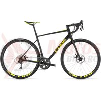 Bicicleta Cube Attain Race Disc Black/Flashyellow 2019