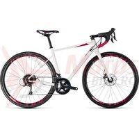 Bicicleta Cube Axial WS Pro Disc white/berry 2018