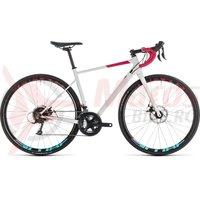 Bicicleta Cube Axial WS Pro Disc White/Berry 2019