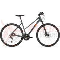 Bicicleta Cube Cross EXC Trapeze Grey/Orange 2019