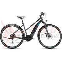 Bicicleta Cube Cross Hybrid One 400 Allroad Trapeze Iridium/Blue 2019