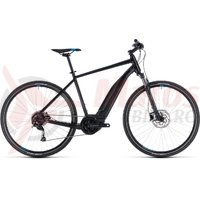Bicicleta Cube Cross Hybrid One 400 black/blue 2018
