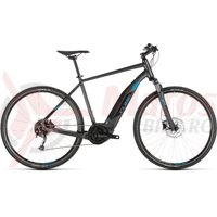Bicicleta Cube Cross Hybrid One 400 Iridium/Blue 2019