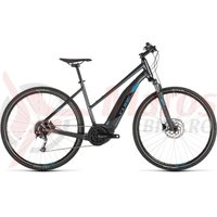 Bicicleta Cube Cross Hybrid One 400 Trapeze Iridium/Blue 2019