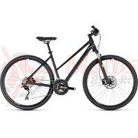 Bicicleta Cube Cross Pro Trapeze black/white 2018