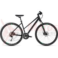 Bicicleta Cube Cross Trapeze black/green 2018