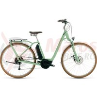 Bicicleta Cube Ella Ride Hybrid 400 Easy Entry Green/White 2020