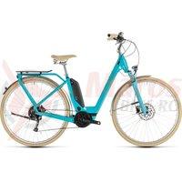 Bicicleta Cube Elly Ride Hybrid 400 Easy Entry Aqua/Orange 2019