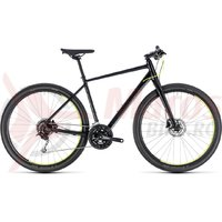 Bicicleta Cube Hyde black/yellow 2018