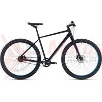 Bicicleta Cube Hyde Pro black/blue 2018