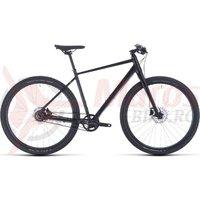 Bicicleta Cube Hyde Pro Black/Blue 2020