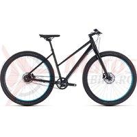 Bicicleta Cube Hyde Pro Trapeze black/blue 2018