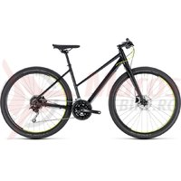 Bicicleta Cube Hyde Trapeze black/yellow 2018