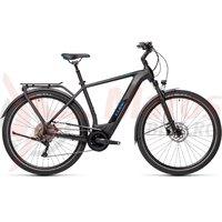 Bicicleta Cube Kathmandu Hybrid Pro 500  Black Blue 2021