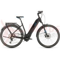Bicicleta Cube Kathmandu Hybrid SL 625 Easy Entry black/blue 2020