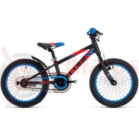Bicicleta Cube Kid 160 black/flashred/blue 2018