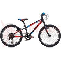 Bicicleta Cube Kid 200 black/flashred/blue 2018