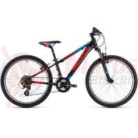 Bicicleta Cube Kid 240 black/flashred/blue 2018