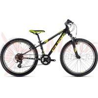Bicicleta Cube Kid 240 black/flashyellow 2018
