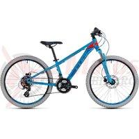 Bicicleta Cube Kid 240 Disc blue/flashred 2018