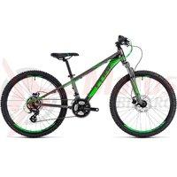 Bicicleta Cube Kid 240 Disc grey/flashgreen 2018