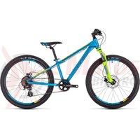 Bicicleta Cube Kid 240 Disc rwwfblue/kiwi/red 2019