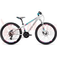 Bicicleta Cube Kid 240 Disc white/aqua 2018
